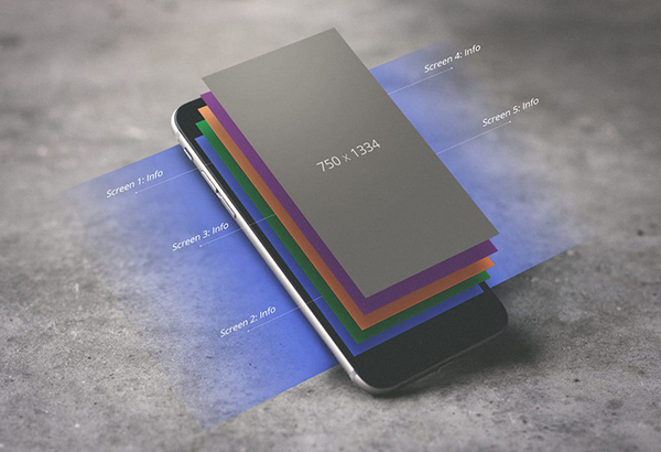 09 iPhone with Display Layers Mockup
