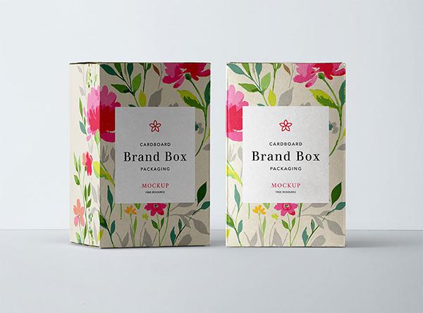 18 Cardboard Boxes Mockup