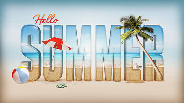 23 Create a Summer Inspired 3D Text Effect in Photosho