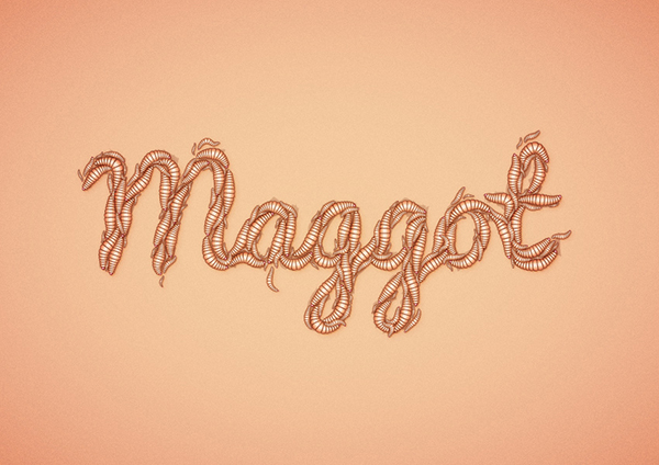 28 How to Create a Maggot Text Effect in Adobe Illustrator