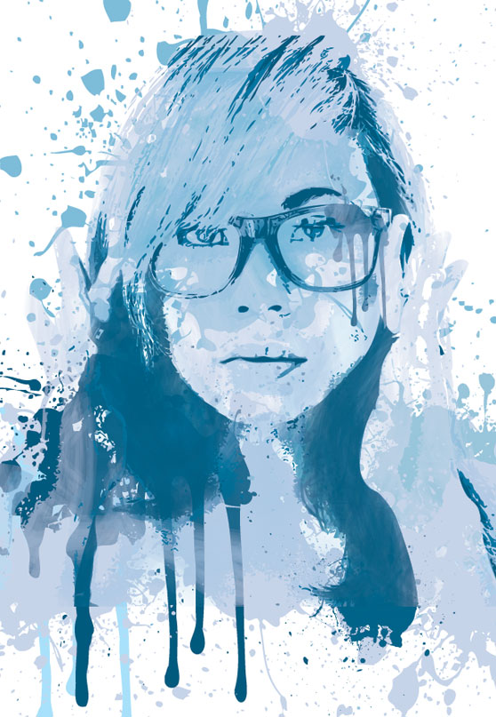 Create a Painted Portrait Effect in Illustrator Using the Bristle Brush