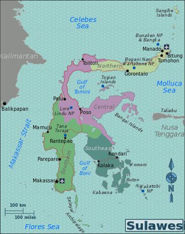 Map of Sulawesi