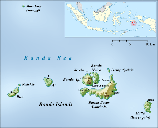 Map of the Banda Islands.