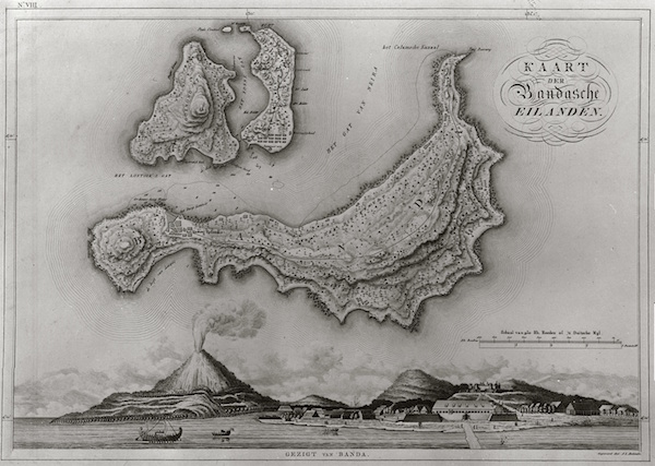 Old map of the Banda Islands