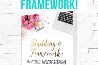 Win a Master Package of the Building a Framework: The Ultimate Blogging Guide! Today only on DesignYourOwnBlog.com, part of a weeklong relaunch party with daily giveaways!