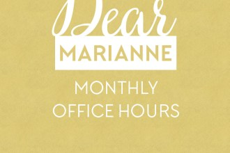 Dear Marianne. Monthly Open Office Hours for Free Blog Design Feedback and Advice!