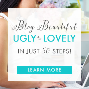 Turn your blog from ugly to lovely with this fabulous self-paced course in an eBook. Get Blog Beautiful