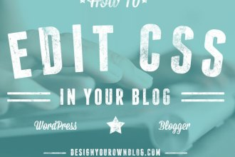 How to Edit CSS (cascading style sheets) in Your WordPress or Blogger Blog