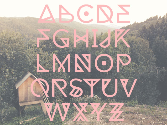 25 Free Tribal Geometric Display Fonts For Your Hipster