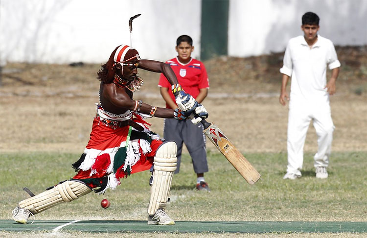 253 Kenya's Maasai 'Warriors' Campaign for Healthy Lifestyle by Playing Cricket