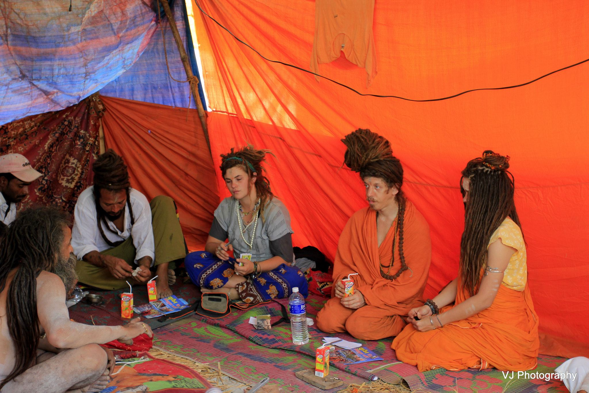 Naga Sadhus with white foreign women