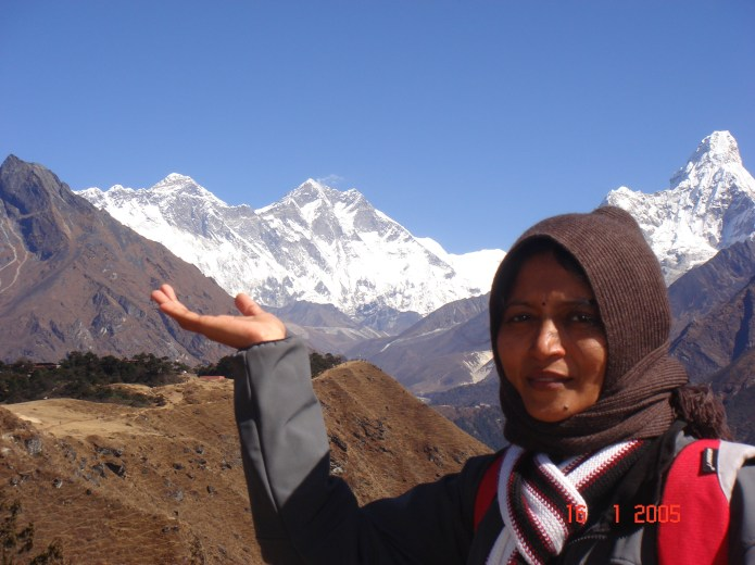 Kiran near everest base camp