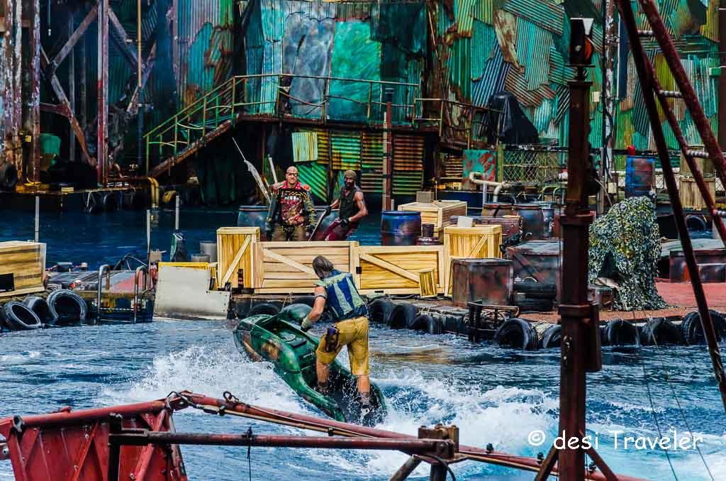 Waterworld Sea War show at Universal studios Singapore