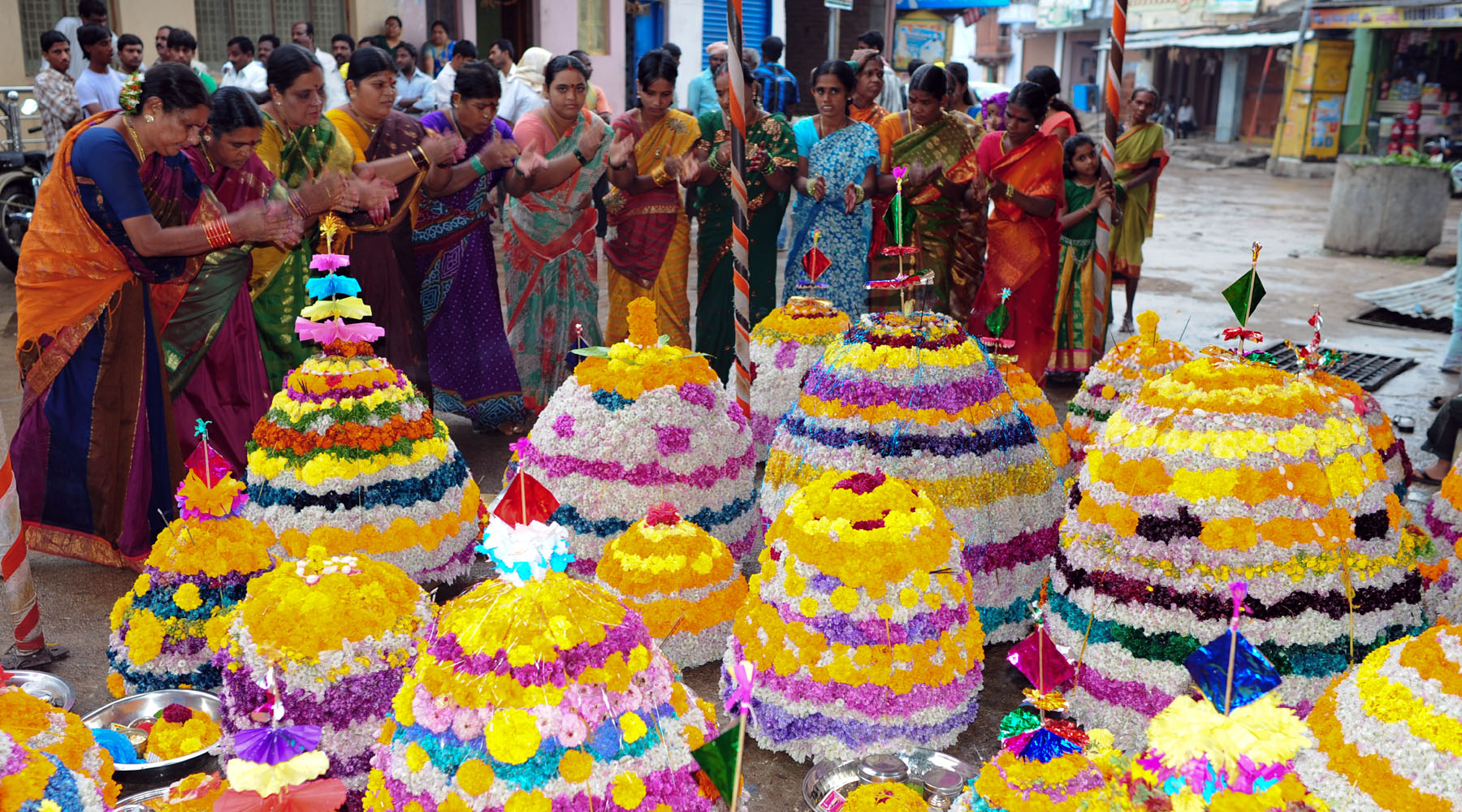 Bathukamma flower festival celebrations Telangana