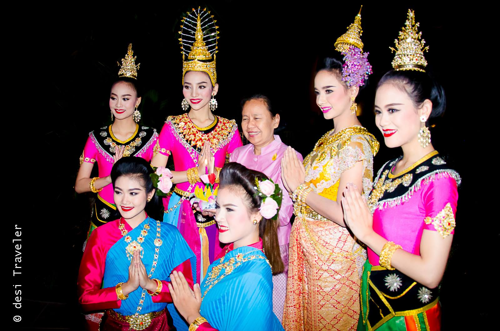 Thai dancers back stage
