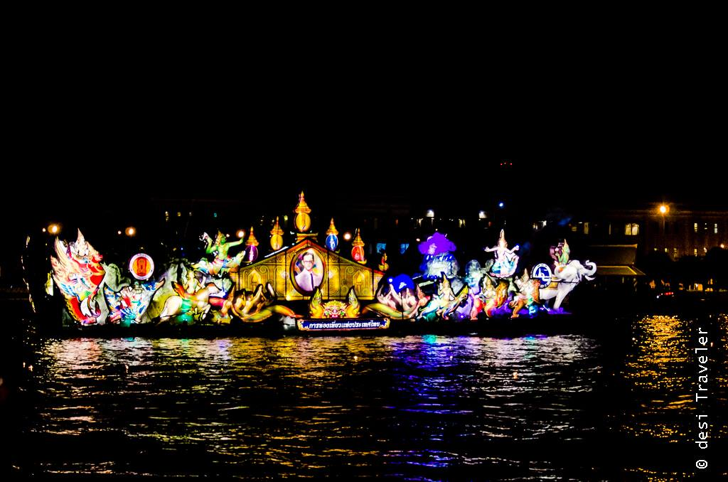 A Loi Krathong Celebration Barge ppp