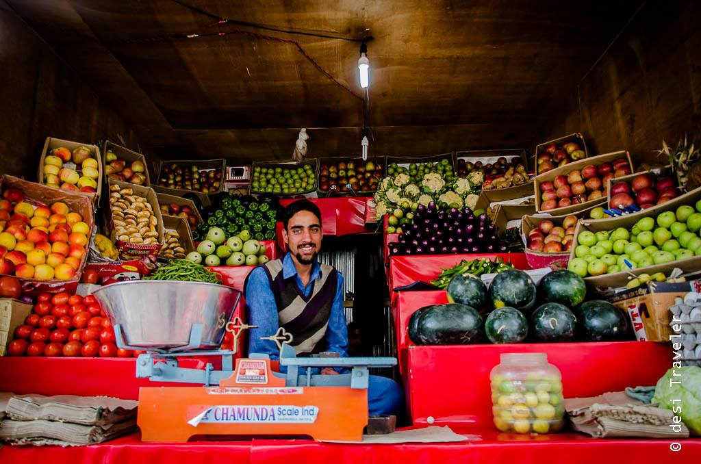Fruit Seller from Kashmir in Leh India