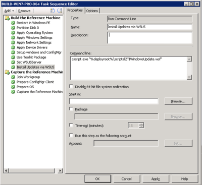 Use Existing WSUS to Patch Client during ConfigMgr OSD Task Sequence | Desktop Guy's Blog