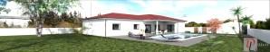 Maison Moderne de Plain-Pied - Vue depuis le jardin