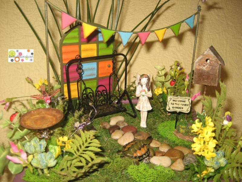 Fairy garden with Gypsy Garden collection- Genevieve Gail