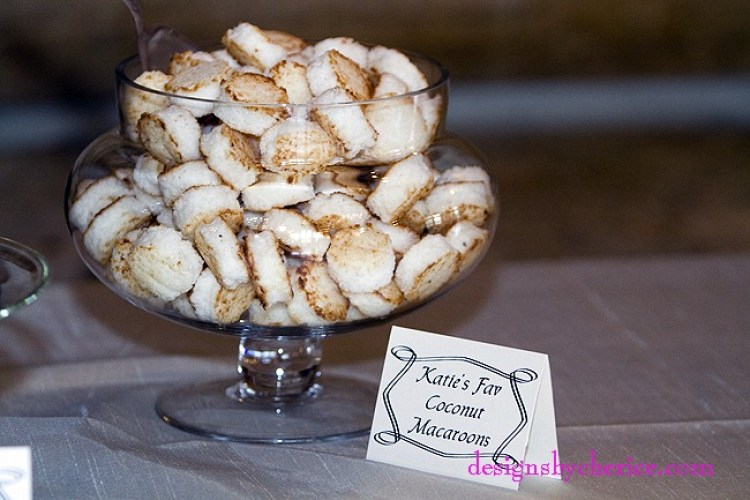 Candy buffet featuring the favorite candies of the bride and groom along with their parents