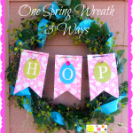 Spring Wreath- 3 ways/1 wreath