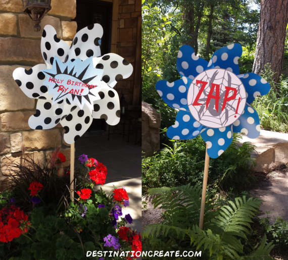 Super Hero Party- pinwheels