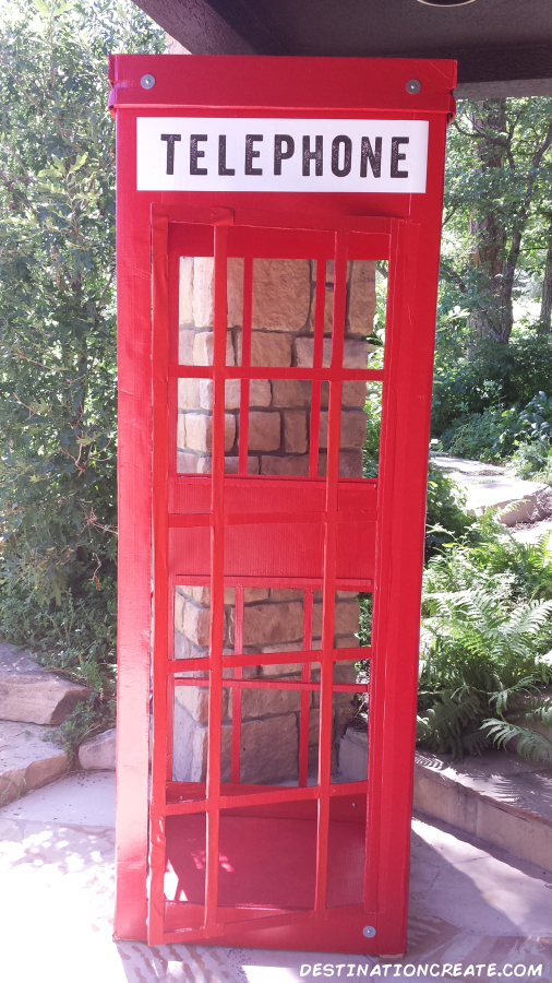 British phone booth-Super Hero Party prop