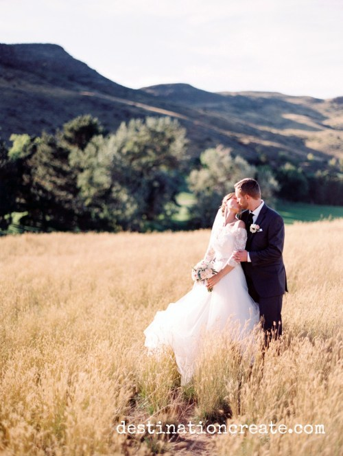 Rolling Hills Country Club was the perfect setting for this exquisite blush and gold wedding in Golden Co