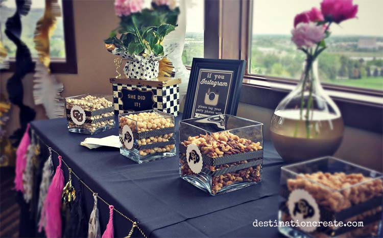 3 party favor table ideas. A little something salty... try a nut buffet at your next party