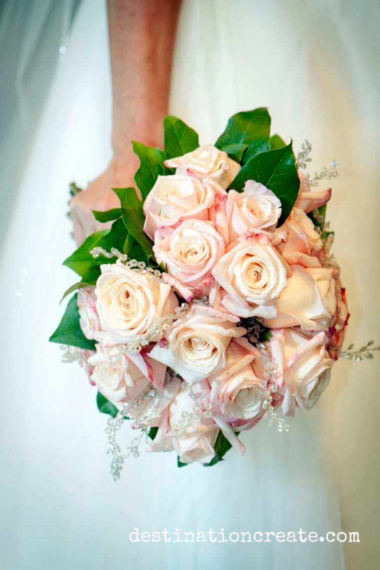 blush pink bridal bouquet