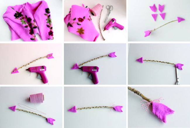 Valentine twig arrow tutorial