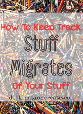 Can you find a pen or pencil when you need one? Are you always losing your keys? There ARE some simple solutions to this dilemma. Check out the full post. Stuff Migrates... it's the law.