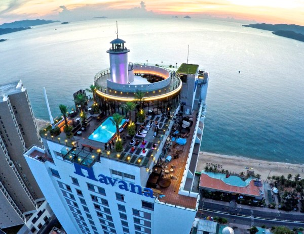 THE BEST PLACE TO PARTY IN NHA TRANG, VIETNAM: SKYLIGHT ROOFTOP BEACH CLUB.
