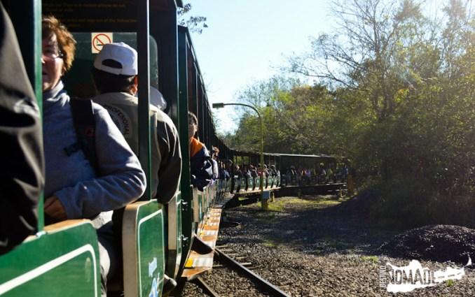 Tren ecológico del PN Iguazú hacia la Garganta del Diablo