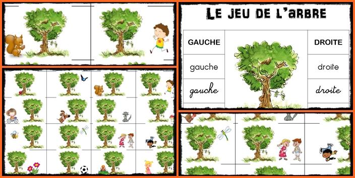 Gauche Droite GS - Le jeu de l'arbre, sur une idée de Mysticlolly