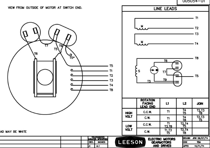 Leeson Electric Motor Wiring Diagram   kakamozza.org