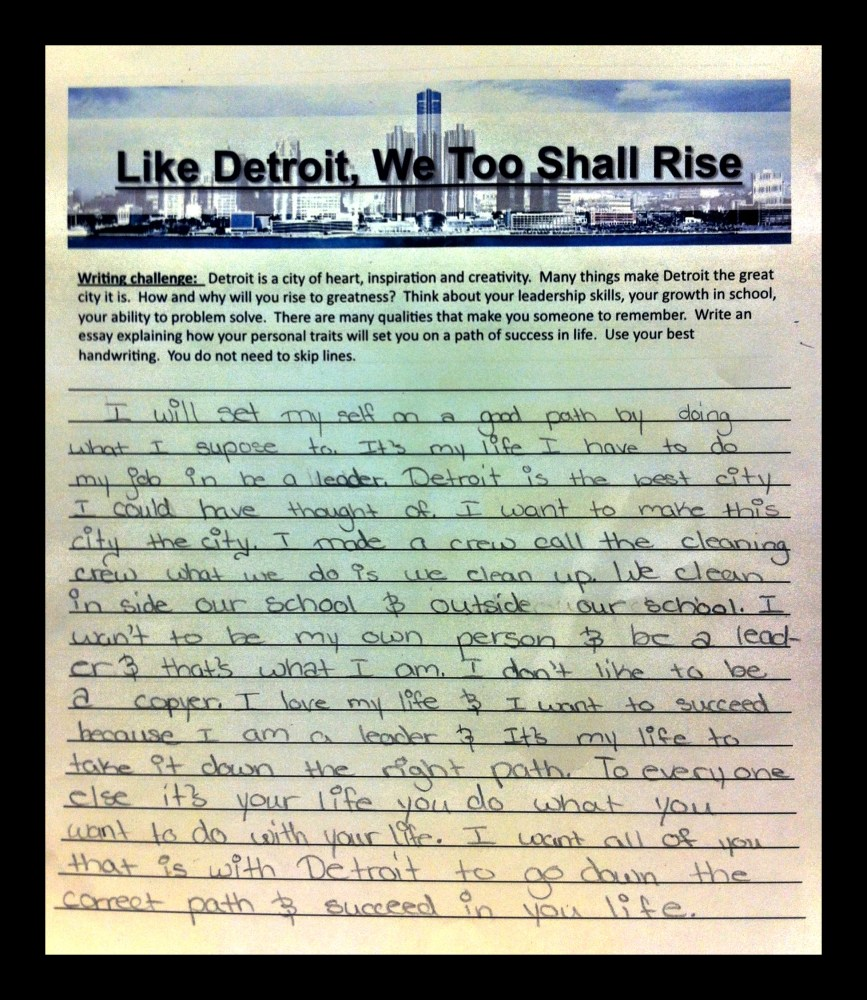May 30, 2012 - The Youth of Detroit Will Lead Us