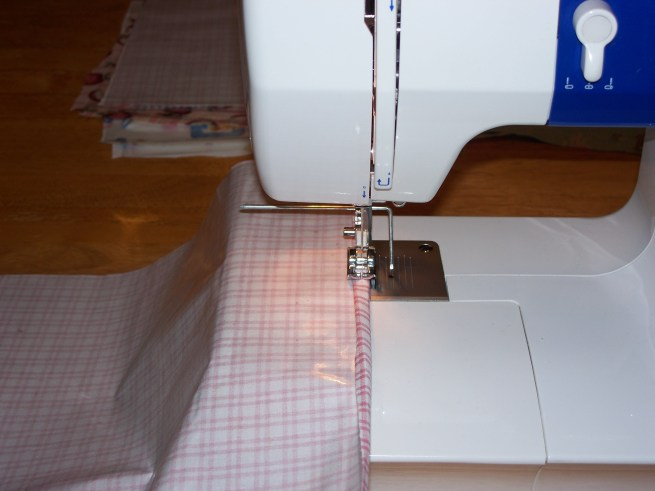 fold over twice and sew!