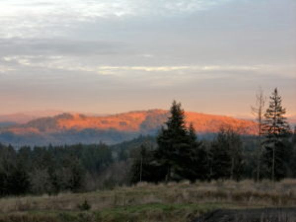 Mount Pisgah at Sunset