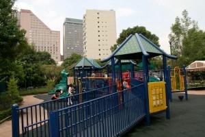 Juegos para niños en el Parque Lincoln, Polanco