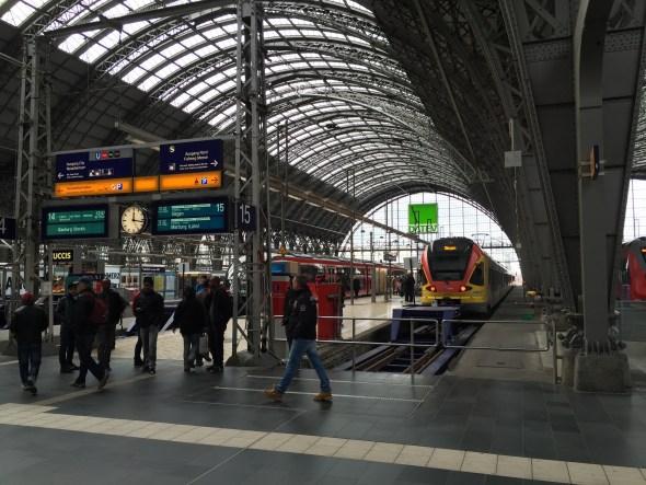 Estación central de Frankfurt.