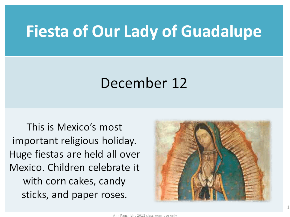 Fiesta of Our Lady of Guadalupe