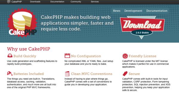 best PHP frameworks for 2015 - cakePHP