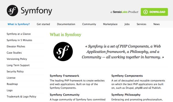 best PHP frameworks for 2015 - symfony