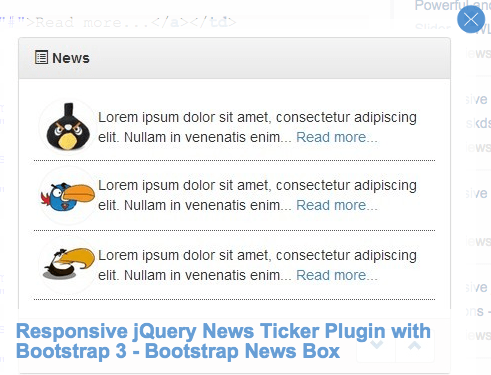 news-ticker - best jquery plugins of april 2015