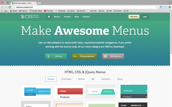 cssmenumaker - best css tools for year 2015