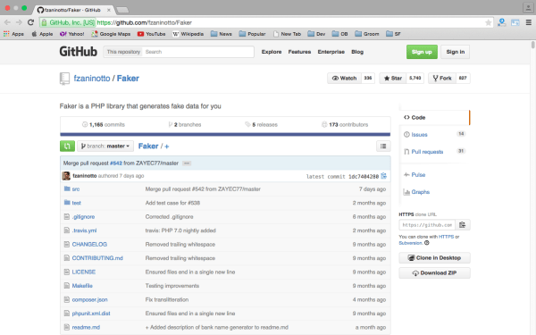faker - Best PHP development tools 2015