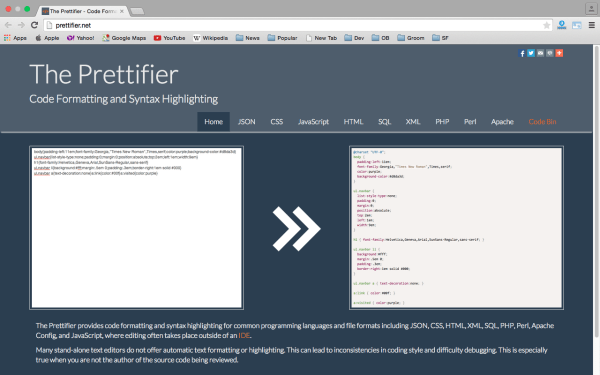 prettifier -Best PHP development tools 2015