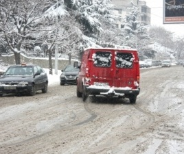 snow in Tbilisi 2013-01-09